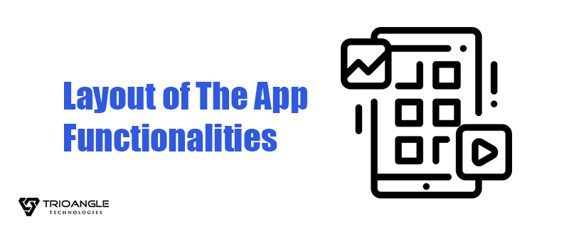 Layout Of The App Functionalities