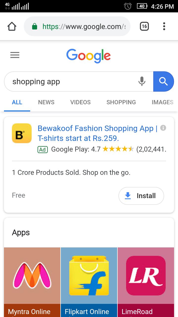 Mobile App campaign
